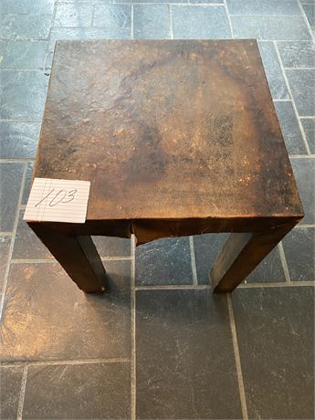 Vintage Leather Covered Stool/Table