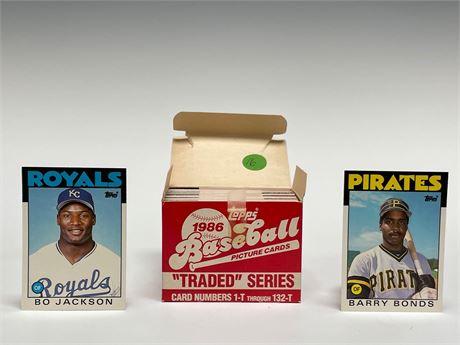 1986 Topps Traded Baseball Card Set