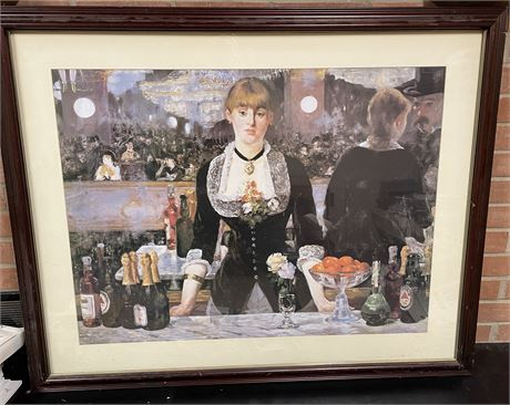 Bar at the Folies-Bergere by Edouard Manet Framed Print