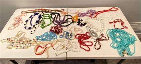 Costume Jewelry Lot #2 - Almost All Necklaces