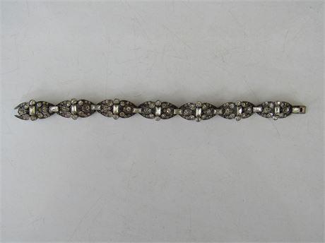 Sterling Rhinestone Vintage Bracelet