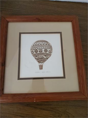 Framed Balloon Etching Artist Signed & Numbered