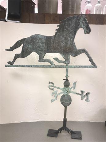 Large Vintage Copper Horse Weather Vane (Needs Arrow)