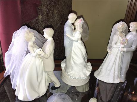 Wedding Figurines Lot (3)