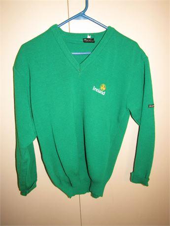 Ireland Wool V-Neck Sweater, Womens