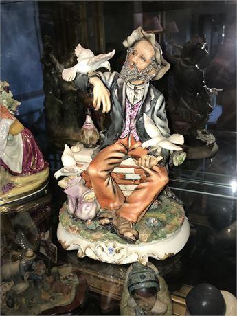 Large Antique German Porcelain Figurine