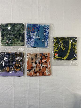 Set of 5 gaiter masks. Face sleeves. Multiple designs.