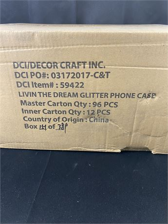 Case of iPhone cases. Fits 6/7. 96 in box.
