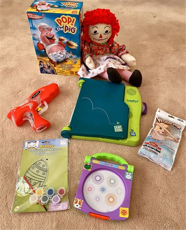 Children's Toy Lot including Leap Pad Learning System