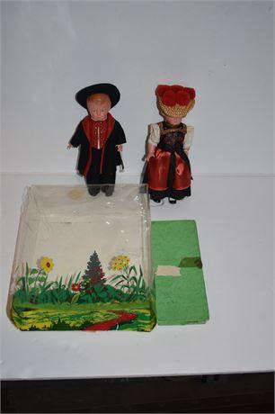 Pair of German Dolls in Box