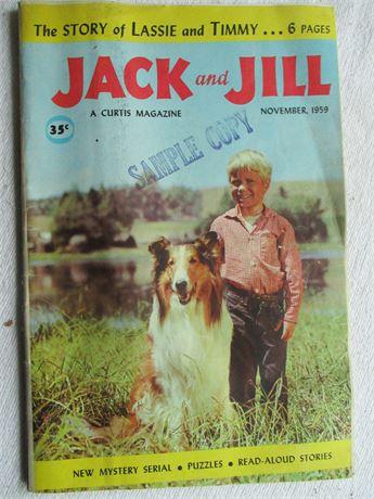 Vintage 1958 35 Cent Issue Jack & Jill Magazine