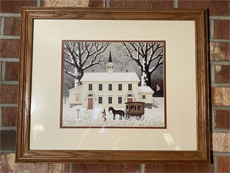 Framed Charles Wysocki Print with Signature in the Print