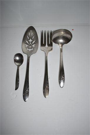 Onieda Silver Plate service pieces