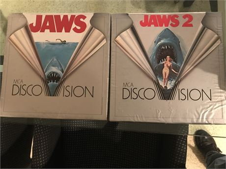 Laser Disc Lot 2 - Jaws and Jaws II