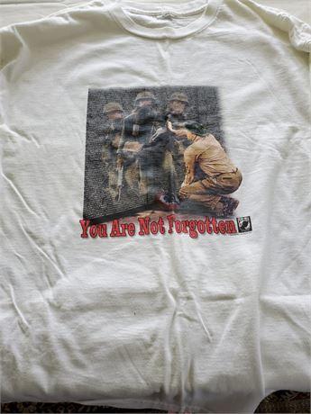 POW MIA You Are Not Forgotten Long Sleeve T-Shirt L