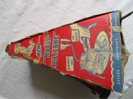 Vintage Mouli Julienne Vegetable Slicer Cutter Hand Held In Box
