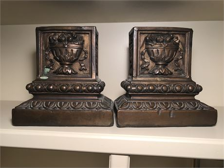 Pair of Armor Bronze Bookends