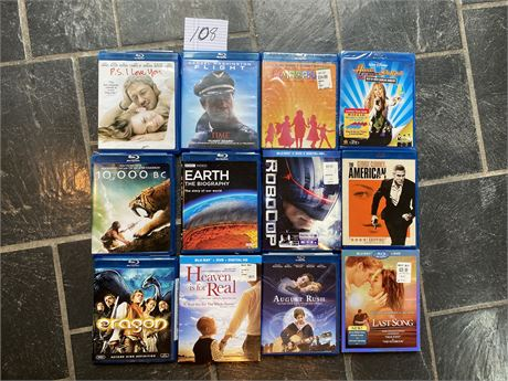 Blue-Ray DVD Movie Lot - Including Some New and Unopened