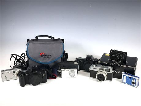 Camera Group Lot Vintage to Newer