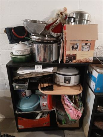 Clean out lot with shelf