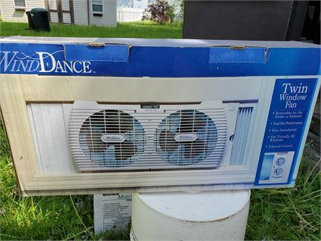 Wind Dance Twin Window Fan