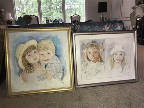 2 Original Framed Paintings by Doris Jira - 1 Oil on Canvas and 1 Watercolor
