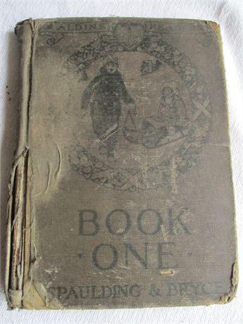 Antique 1917 Elementary Aldine Reading School Primer