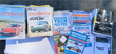 Porsche Magazines including Excellence, Buyer's Guide, 356 Club and More!
