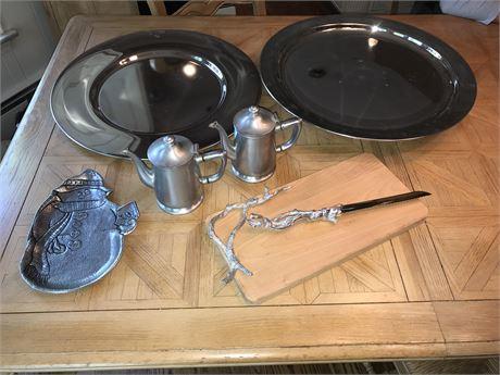 Metal Serving Pieces