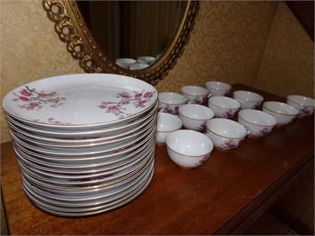 Laural china Plates and cups