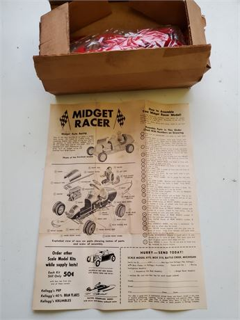 Vintage Midget Racer in Box Kellog's Cereal Premium