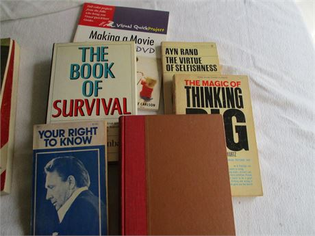 6 Books Your right to know Thinking Big Ayn Rand Secrets Of a Positive Attitude