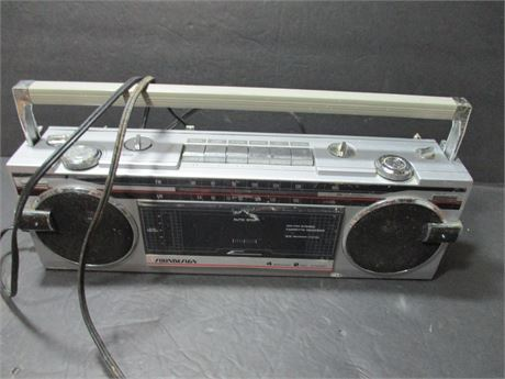 "Vintage Soundesign Solid State 15"" Cassette Player Recorder AM FM"
