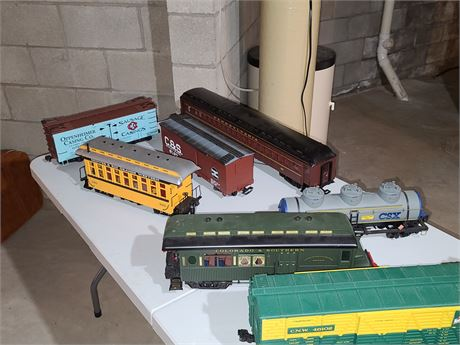 Assorted Large Lot of Train cars LGB & Aristocraft & Etc.....