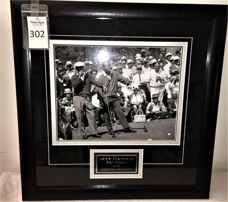 Framed Photo of Ben Hogan and Arnold Palmer at 1966 Masters