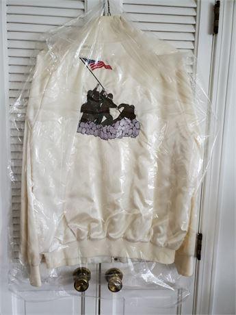 UAW Veterans Jacket Embroidered Raising Flag Iwo Jima 2XL