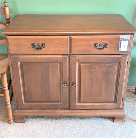 MCM Colonial Style Maple Sideboard