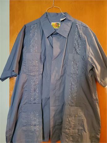 Vintage Haband Guayabera Shirt XL