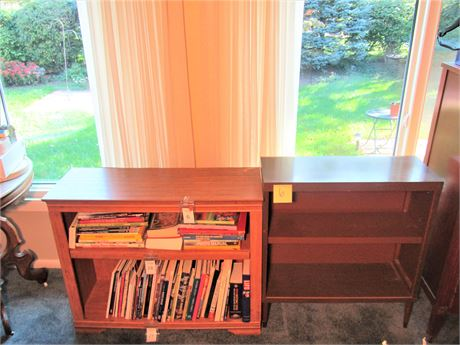 Two Particle Board and Laminate Bookcases