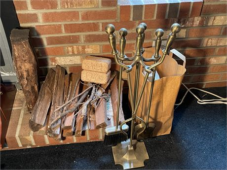 Wood, Fire Starters and Fireplace Tools
