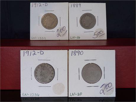 Liberty head V nickels