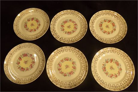 Candlelight American Limoges dinner plates