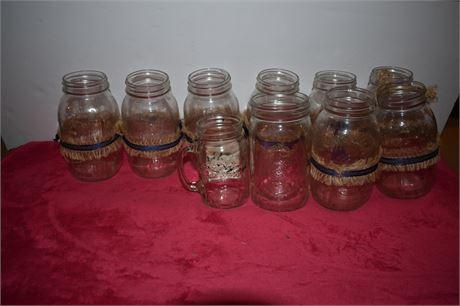 Lot of Mason Jars, no lids