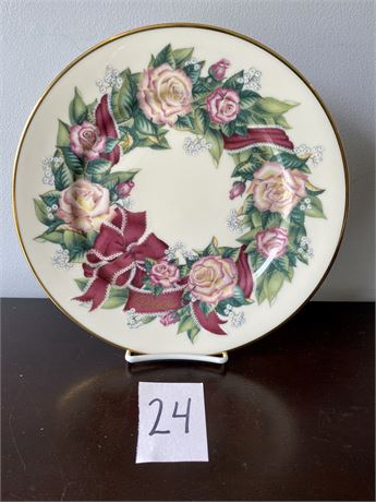 """Lenox Sentiments of Roses Collection """"Peace"""" Collector's Plate"""