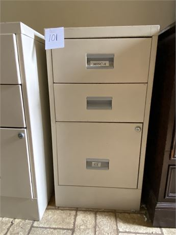 W.P. Johnson Standard Metal Filing Cabinet (1 of 3)