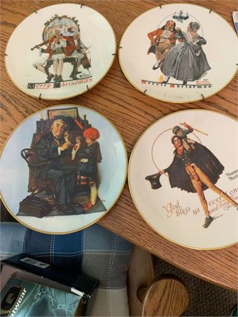 NORMAN ROCKWELL COLLECTIBLE DISH LOT