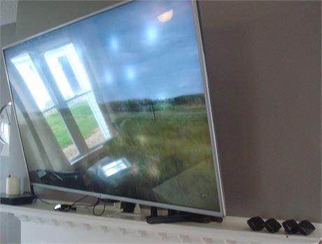 """55"""" Flat Screen TV & 4 Universal Garage Door Openers"""