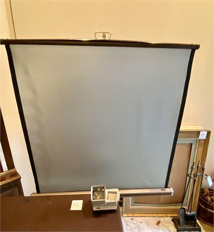 Vintage Da-Lite Silver Pacer Screen & Sawyer Pana-Vue Automatic