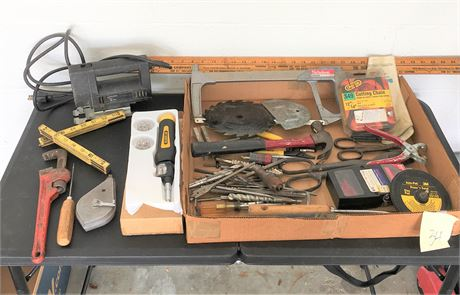 Black & Decker Jigsaw, Nicholson Hacksaw, and Other Hand Tools