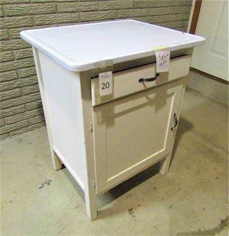 Enameled Metal Top Utility Cabinet